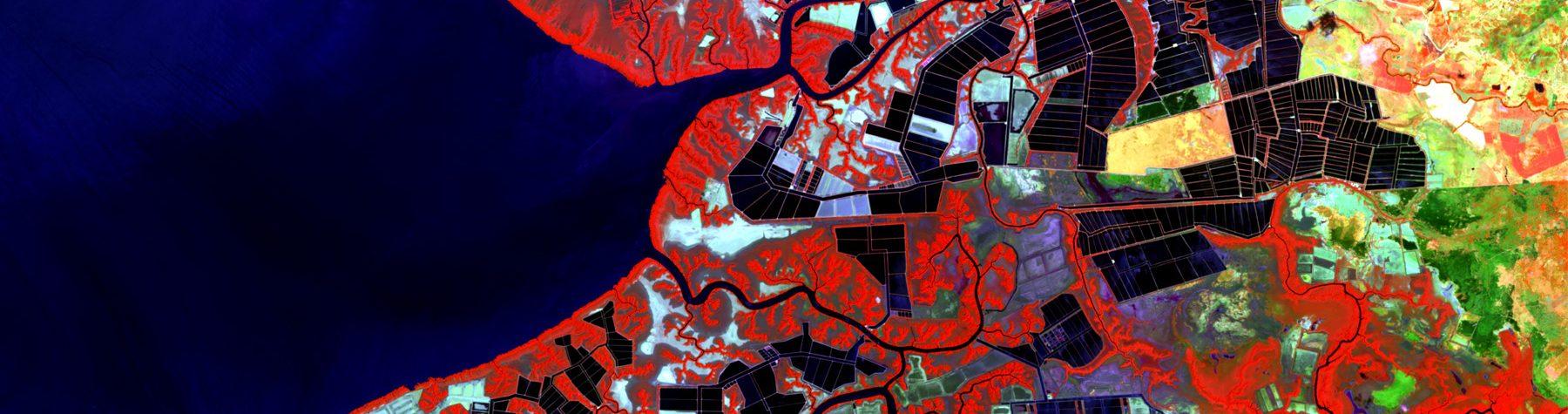 Geospatial Data Analytics Online Graduate Certificate: Satellite Imagery of Shrimp Farming Beds in Nicaragua.